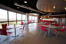 office break room ideas. Office:Executive Break Room Furniture Design With Large Glass Window And Cool Red Chair Ideas Office D