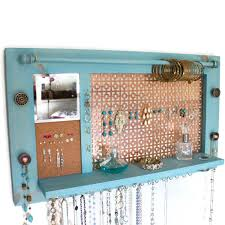 Jewelry Organizer Wall Jewelry Organizer Jewelry Hanger Wooden Wall Hanging Jewelry