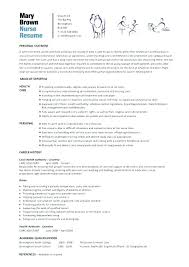 Resume Templates For Nurses Mesmerizing Resume Template Nurse Curriculum Vitae Nursing Throughout Registered