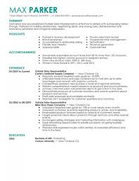 Outside Sales Representative Sample Resume Delectable Resume Examples For Outside Sales Representatives Resume Examples