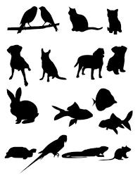 ペット動物のシルエット ベクターイラストai 無料イラスト
