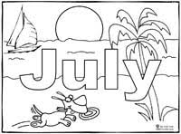 Small Picture July Coloring Page Sing Laugh Learn