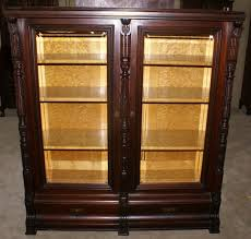 antique bookcase with glass doors elegant mahogany bookcases for