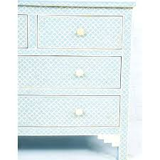Baby Blue Fish Scale Bone Inlay Dresser Chest Of Drawers33