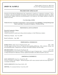 Entry Level Phlebotomy Resume Resume Meaning In English Foodcity Me