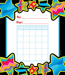 Poppin Patterns Stars Reward Chart Pad