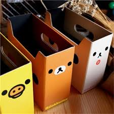 Cardboard Magazine File Holders Cute Bear Paper Board Storage Box Cartoon Books Creative Desktop 64