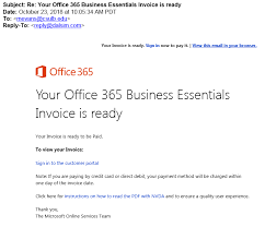 Office Invoice 2018 10 23 Your Office 365 Business Essentials Invoice Is Ready