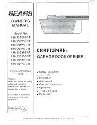 craftsman 1 2 hp garage door opener troubleshooting craftsman garage rh liftbydesign co sears garage door