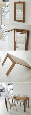 expandable dining table ka ta: who does need a mirror that turns into a dining table simple attractive multifunctional