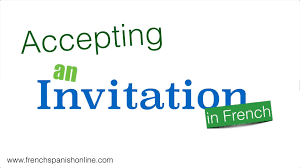 Accepting A Wedding Invitation In French