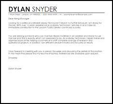 cover letter for librarians library technician cover letter sample cover letter templates