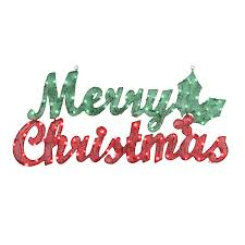 Merry Christmas Light Up Signs Outdoor Gemmy Pre Lit Merry Christmas Sign With Constant White