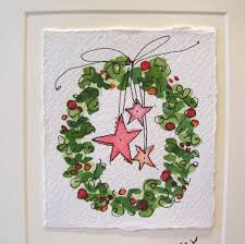 Christmas Card Ideas With Lights Painting Watercolor Christmas Cards Christmas Lights Card