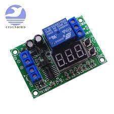 DC 12 V LED 3 haneli ekran zaman rölesi modülü tetikleyicileri başlangıç  geri sayım stop dinamik ekran düğme ayarı|Entegre Devreler