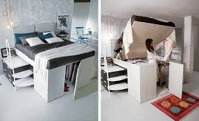 bed for office. closet hidden under bed for office e