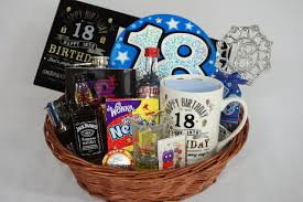 personalised 18th birthday gift basket for boys