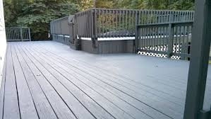 Angieu0027s List Multilevel Deck Stained Charcoal Gray
