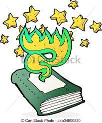 cartoon magical spell book csp34600530