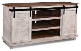 westgate white 66 sliding barn door tv stand a console
