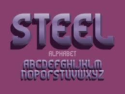 metal 3d letters vector typeface metallic volumetric design type vector letters font alphabet 3d metal