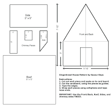 Gingerbread House Pattern House Template Paper House Ornament
