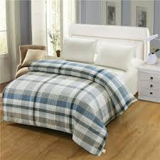 100 cotton duvet cover twin full queen king size blue striped cartoon red plaid gray