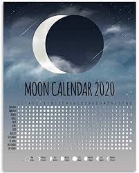 Moon Chart Amazon Com 2020 Calendar Phases Of The Moon Chart Great