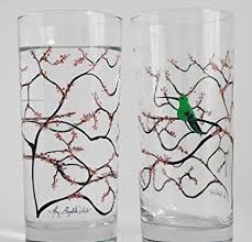 tumblers hummingbird glasses set of 2 everyday drinking glasses green hummingbirds glassware gift sets offers