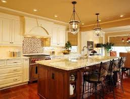 french country kitchen lighting captainwalt com intended for islands ideas 10