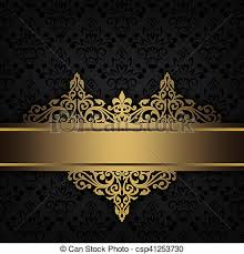 Gold Pattern Magnificent Black Decorative Background With Gold Border Black And Gold Vintage