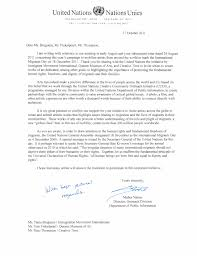 United Nations Official Letter Of Support For Dec Artistofficial