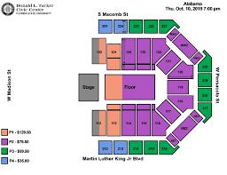 Pensacola Bay Center Seating Chart Pensacola Civic Center Seating Cub Stadium Seating Chart
