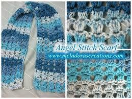 Free Crochet Patterns For Scarves Impressive Angel Stitch Scarf Free Crochet Pattern Meladora's Creations