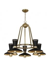 torricelli chandelier modern brass finish