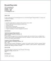 Technical Support Resume Artemushka Com