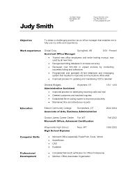 Cover Letter Resume Sample For Office Manager Sample Resume For