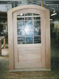 elliptical arch top exterior door unit true divided lights with single pane glass restoration project in ny
