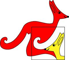 pin red kangaroo logo on la notte dei ricercatori milano