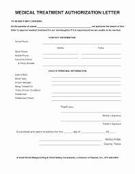 Sample Medical Authorization Letters Letter Authorizing Medical Treatment Elegant Best S Of Medical 24