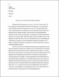essay ldquo how do i love thee rdquo and ldquo she walks in beauty rdquo chong this preview has intentionally blurred sections sign up to view the full version