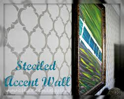 Paint For Living Room With Accent Wall Living Room Accent Wall With Cutting Edge Stencils Ask Anna