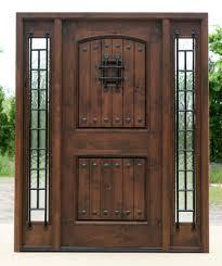 front doors woodExterior Door with Sidelights  Prefinished