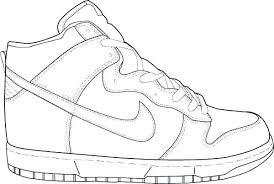 Nike Jordan Coloring Pages Tennis Shoes Air Pleasurable Ideas