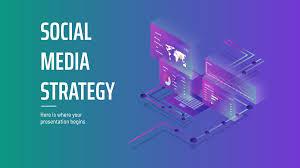 Strategy Presentation Isometric Gradient Social Media Strategy Free Presentation