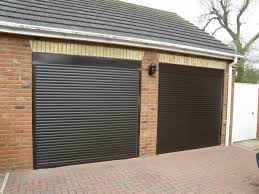 single car garage doors. Two Car Garage With Black Automatic Doors : Awesome Single S