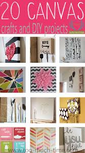 20 canvas craft and DIY projects from TMTOMH Too Much Time on My hands