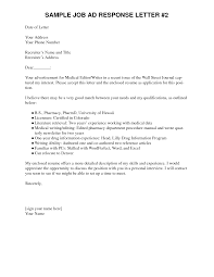 Best Photos Of Example Of A Response Letter Job Response Letter