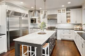 Alternative Kitchen Flooring Kitchen Dark Brown Polished Teak Wood Island Using Marble