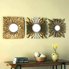 s deco decorative wall mirror sets